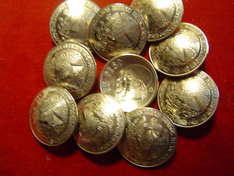 Buttons: One Peso Mexican Coin
