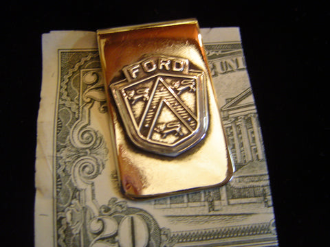 Money Clip: Sterling Ford Shield (1950's)