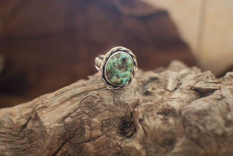 Carico Lake Turquoise and Sterling Ring