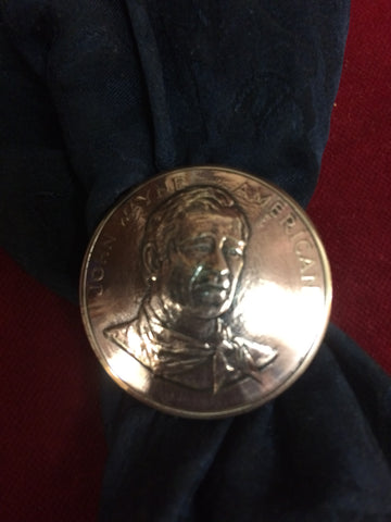 "Slide: Copper John Wayne medal, 1 3/8"" diameter"