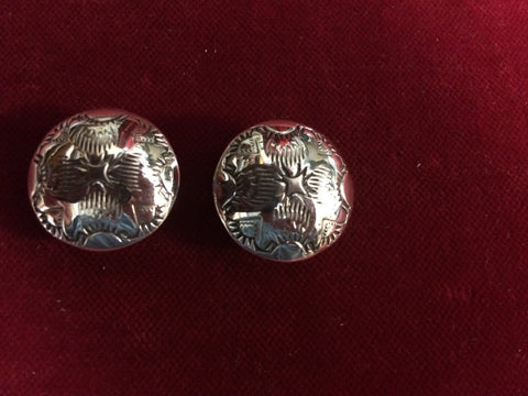 CONCHOS: Pair of Sterling Matching 7/8""