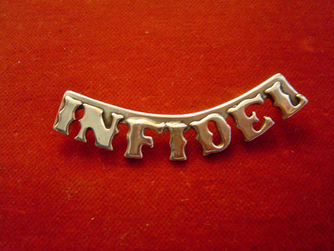 "Pin: ""Infidel"", Sterling"
