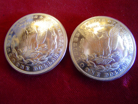 Conchos: Real Coin Morgan (Eagle Side) Silver Dollars