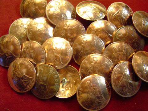 Buttons: Vintage English Penny