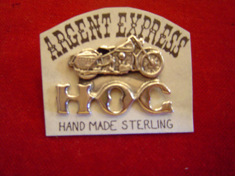 Sterling HOG and Motorcycle Pin