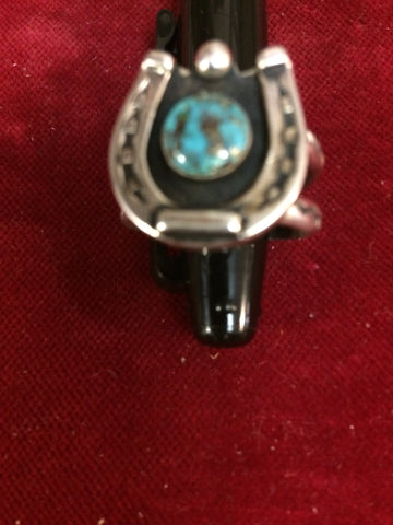 Ring: Sterling with Horseshoe Turquoise