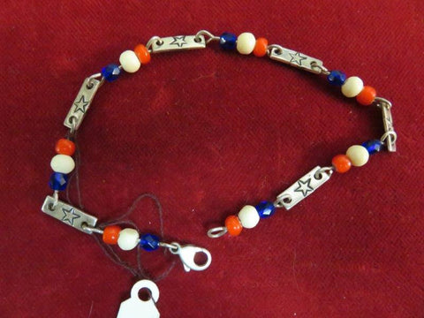 Bead Braclet or Anklet: Patriot Theme