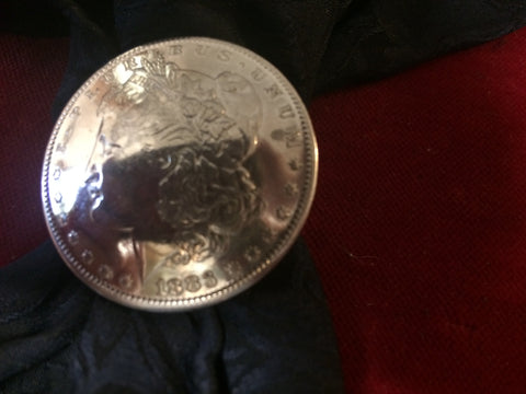 Scarf Slide: Real Coin 1883-o Silver Dollar