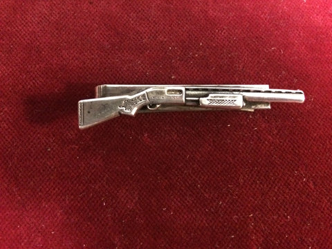 Tie Clip: Sterling Shot Gun on nickle clip