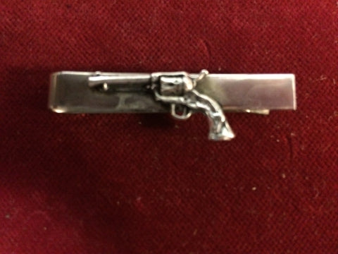 Tie Clip: Sterling Six Gun on nickle clip