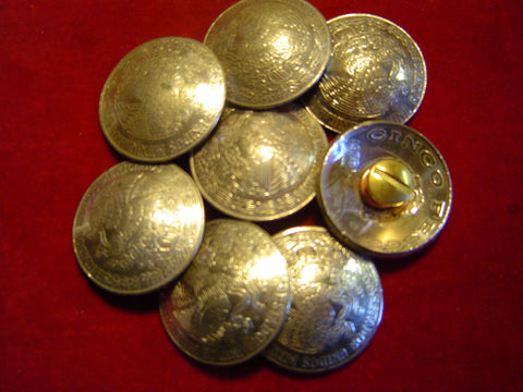 """5 Real Coin High Grade /"""" Indian/""""  Nickles CONCHOS Post /& screw"""