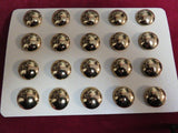 "Buttons: Plain Brass Military 20 mm, 5/8""."