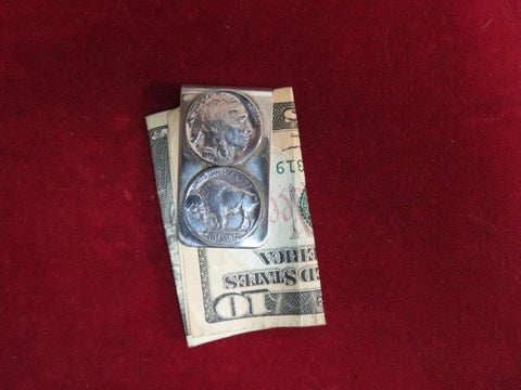 Money Clip: Vintage Real Coin Double Nickle, 5 cent.