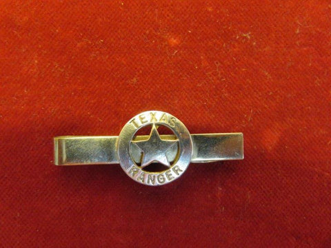 Tie Clip/Bar: Sterling Texas Ranger Badge