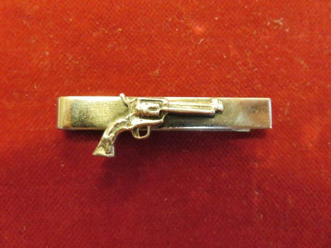 Tie Clip/Bar: Sterling Six Gun
