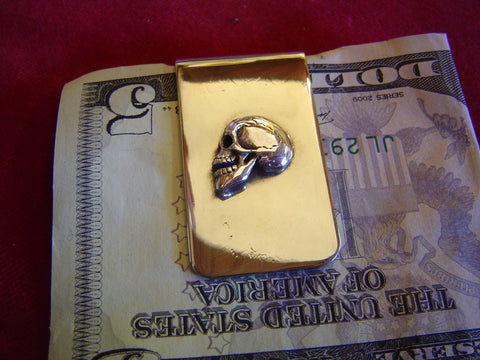 Money Clip: Sterling Profile Skull