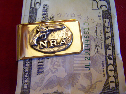 Money Clip: NRA and Six Gun