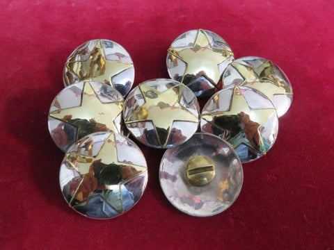 Conchos: Sterling w/ Brass Star, 1 1/4""