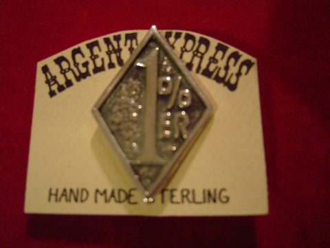 "Pin: ""1% er""  Sterling Diamond"