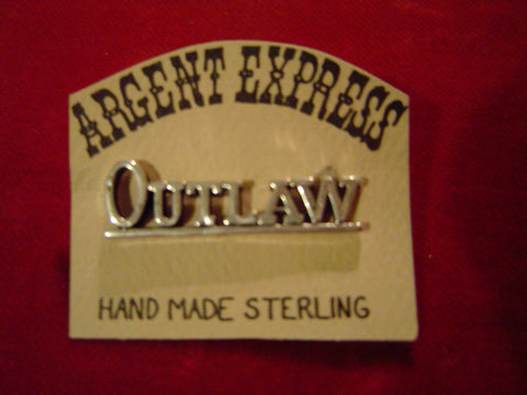 Pin: OUTLAW, Sterling