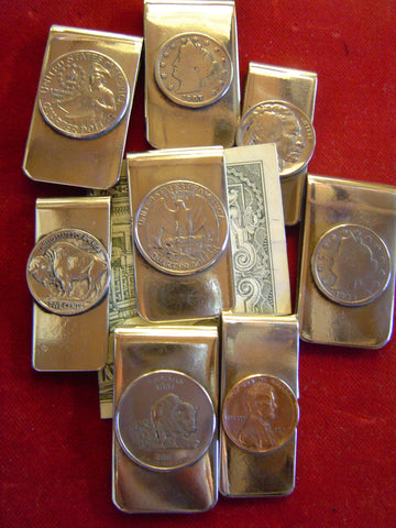 Money Clips: Lot of 5 Vintage and Current U.S. Coins