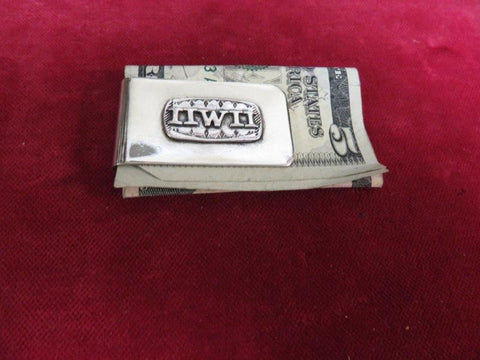 "Money Clip: Sterling tag ""IIWII"" It is what it is!"