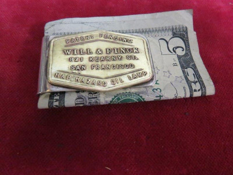 Money Clip: Will & Finck, Hazard Oil Lamp