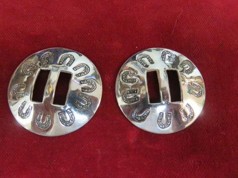 Conchos: Sterling Slotted with Horseshoes