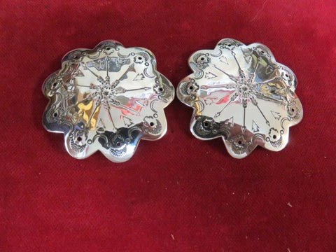 "Conchos: Pair of Sterling 2"" w/ Arrows"