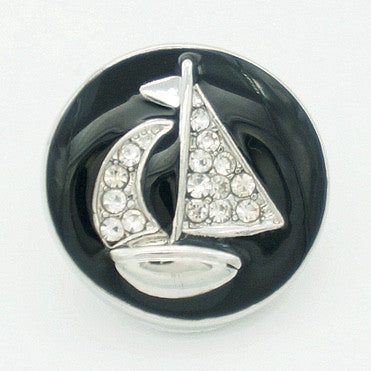 Diva Dot, Sail Boat with Crystals