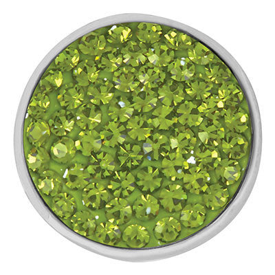 Diva Dot Snap Button, Avocado Green Bling