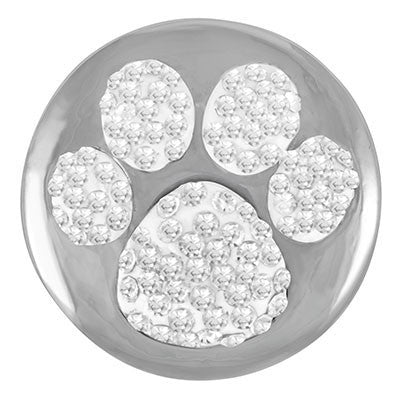 Diva Dot, Crystal Paw Silver Background