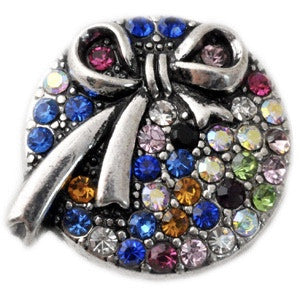 Diva Dot, Bow with Multi-Colored Crystals