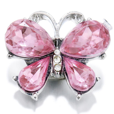 Diva Dot, Butterfly, Pink Crystal