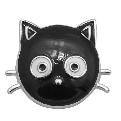 Diva Dot Snap Button, Cat Face