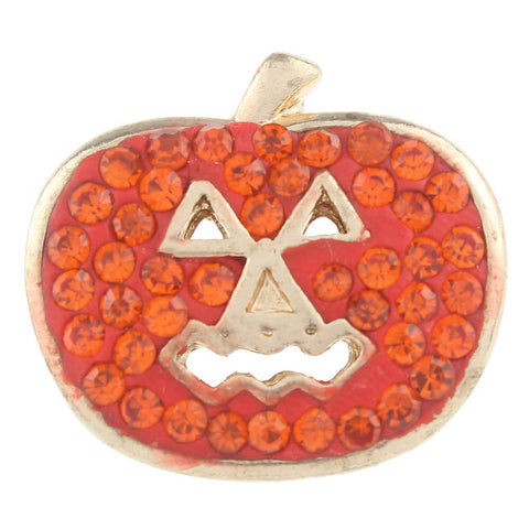 Diva Dot Snap Button, Crystal Pumpkin
