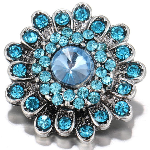 Diva Dot, Blue Crystal Flower