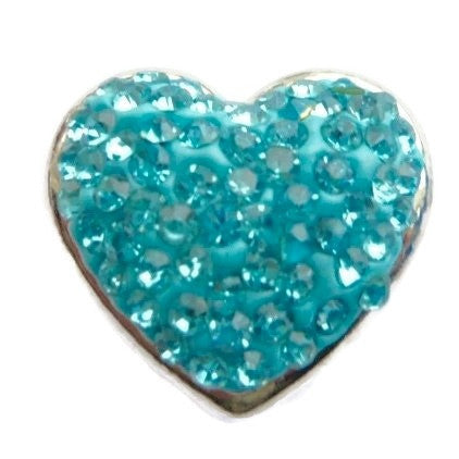 Diva Dot, Heart Shaped Blue Bling