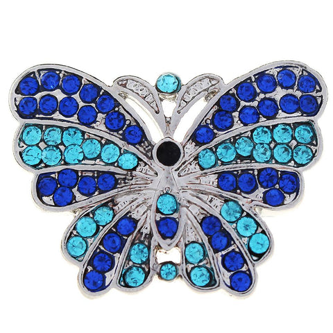 Diva Dot, Butterfly Shape, Blue Crystal