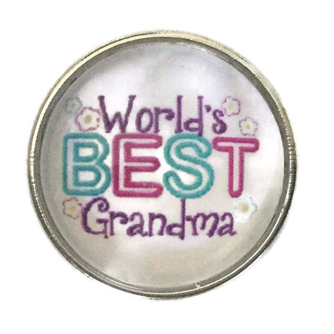 Diva Dot Snap Button, World's Best Grandma