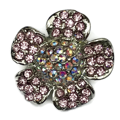 Diva Dot Snap Button, Crystal Flower Pink & Opaque