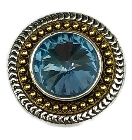 Diva Dot Snap Button, Blue Crystal