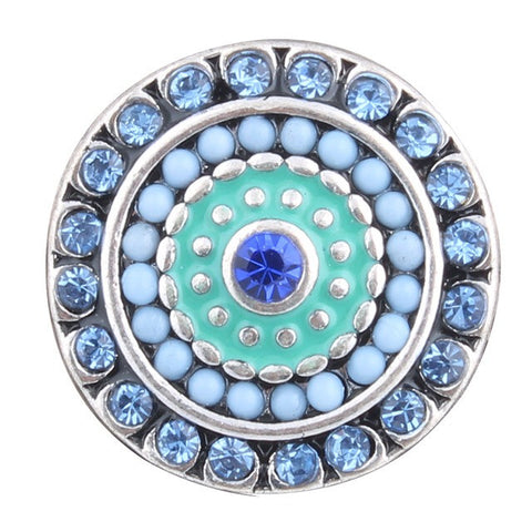 Diva Dot Snap Button, Blue Bonanza
