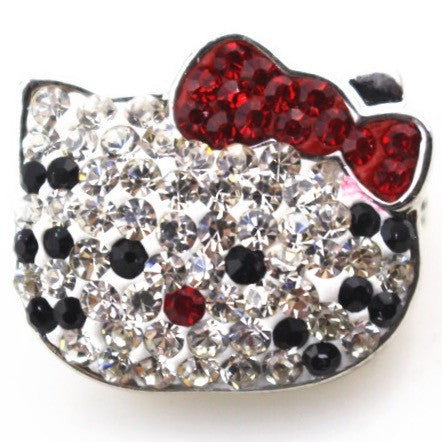 Diva Dot Snap Button, Crystal Kitty