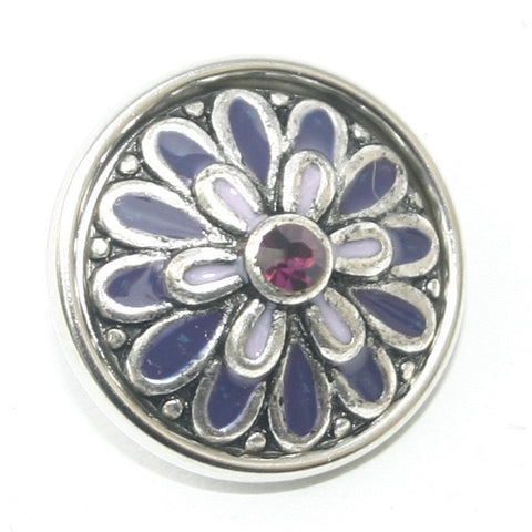 Diva Dot, Purple Power Flower with Rhinestone