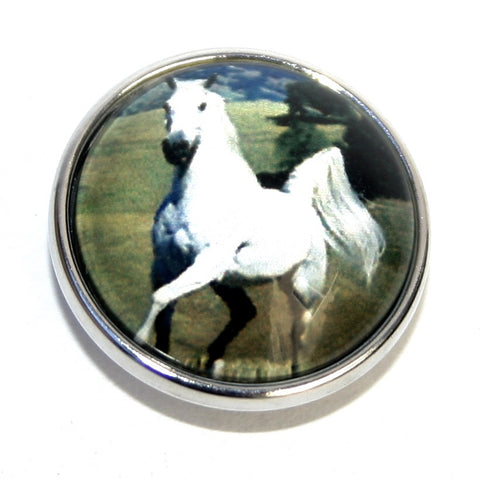 Diva Dot, Horse White, Glass