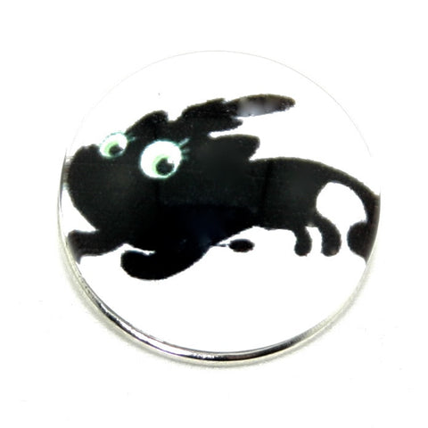 Diva Dot, Black Blob Creature Running, Glass