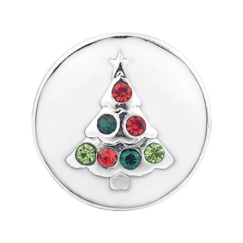 Diva Dot Snap Button, Christmas Tree With Crystals
