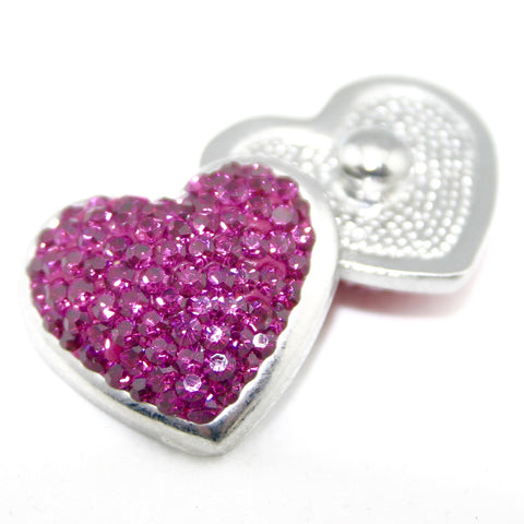 Diva Dot, Heart Shaped Dark Pink Bling