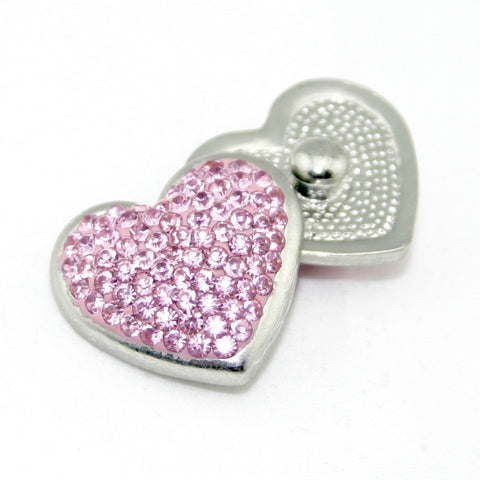 Diva Dot, Heart Shape Pink Bling